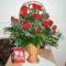 Virágkosár rózsából