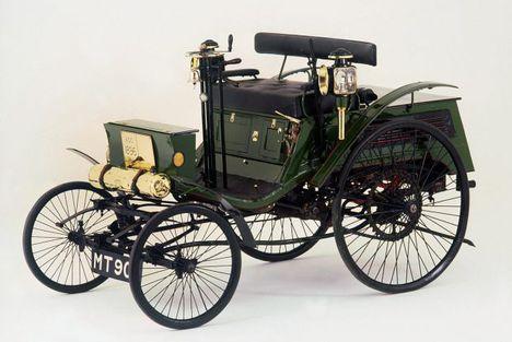 Walter Arnold és a 1896-os gyártású Benz Motorwagen