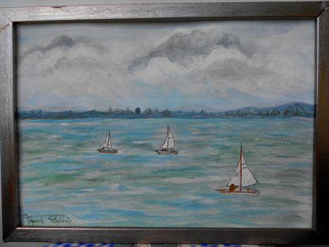 Balaton 23x33 akvarel