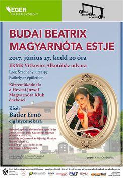 Budai Beatrix magyarnóta estje