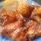 Mézes csirkeszárny rizsgombóccal