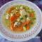 Zöldséges húsgombóc leves