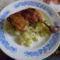 Fűszeres sült csírkecomb petrezselymes burgonyával.