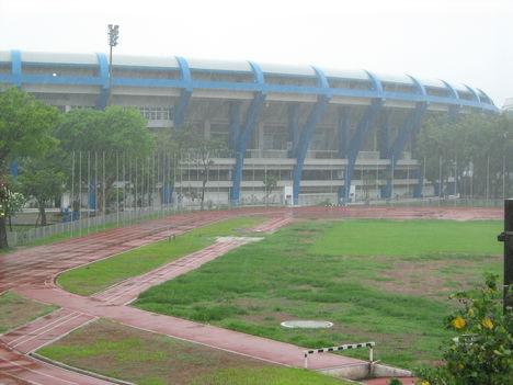 Maracaná Stadion, szakadó esőben, 2007-ben