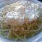 Tejfölös-túrós spagetti recept