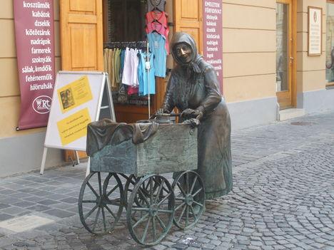 2009.05.22.Székesfehérvár, sétáló utca örökös öregasszonya