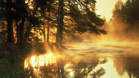 Napkelte Dal folyó Svédország