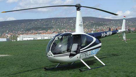 Robinson helikopter a Budaörsi repülőtéren