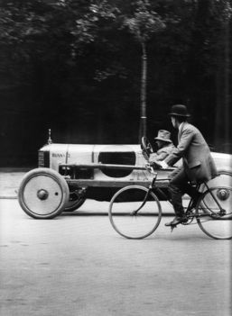 Jacques-Henri Lartigue, A racing Singer, Avenue des Acacias Paris, 1912, gelatin silver print, 12 x 16 inches, with JHL blind stamp in margin, price on request