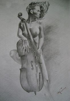 Nő gordonkával