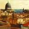 Csontváry Kosztka Tivadar: Templomtéri kilátás a Holt-tengerre Jeruzsálemben