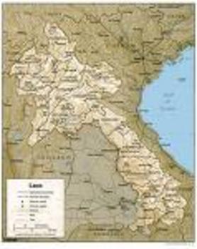 Laosz térképe