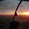 légifotó: aranyra festett horizont