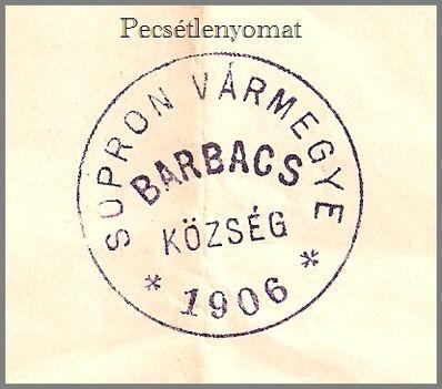 Pecsétlenyomat 1906