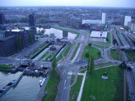Rotterdam az Euromastból