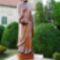 Szent Bertalan apostol szobra a Szent Bertalan templom kertjében, Hegyeshalom 2016. augusztus 22.-én 2