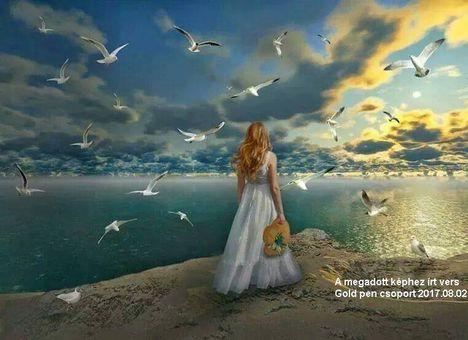 Állok a tenger parton...Dáma Lovag Erdős Anna verse