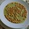 Brokkoli krémleves leves gyönggyel.