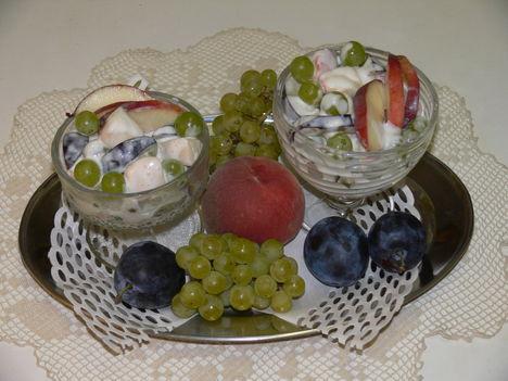 Gyümölcs csendélet-Anna saláta
