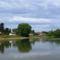 Mosoni-Duna a Mecsér község belterülete melletti szakaszon, Mecsér 2017. július 26.-án 2