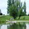 Mosoni-Duna Mecsér község belterülete melletti szakaszon, Mecsér 2017. július 26.-án 2