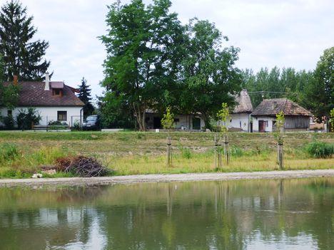 Mosoni-Duna Mecsér község belterülete melletti szakaszon, Mecsér 2017. július 26.-án 33