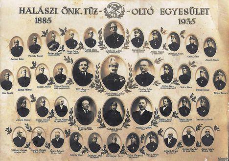 1935 Önkéntes tüzoltó Testület tablója