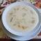 Gyümölcs leves : Alma és őszibarackból.