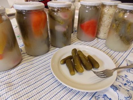 Roppanós kovászos uborka, paprika, savanyú káposzta...