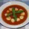 Paradicsomleves bazsalikomosan-krumpli gombóccal