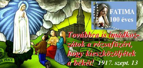 Szeptember 13.Fatimai Szűzanya Ötödik jelenése