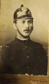 Szüts Ferencz 1935-ben, önkéntes tüzoltó