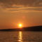 tengerről a naplemente