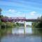 Mosoni-Duna a Kimlei híddal, Kimle 2017. július 25.-én