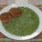 Zöldborsó főzelék csirketallérral
