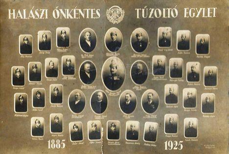 1925 Halászi Önkéntes Tüzoltók tablója