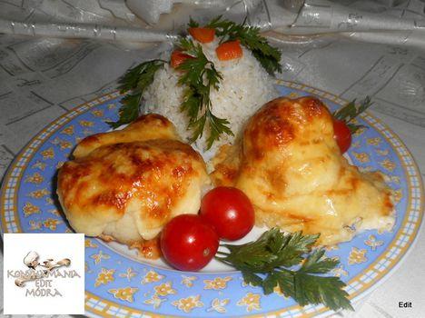 Csirkemell dubarry módra
