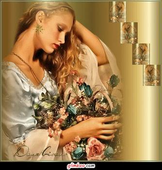 Hölgy virággall