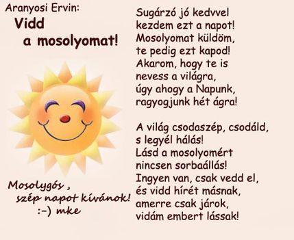Mosolygós ,szép napot :-)