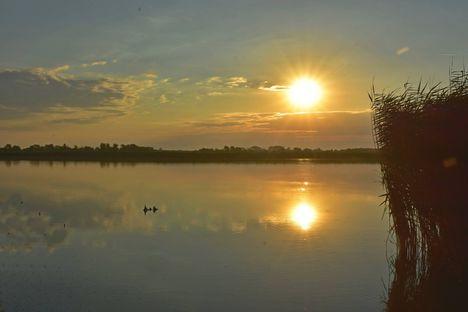 Tőzeg, napfelkelte