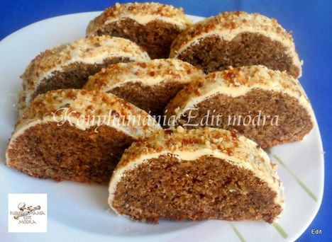 almás-diós süti szeletek