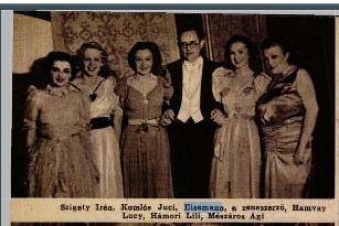 Eisemann Mihály zeneszerző színésznőkkel