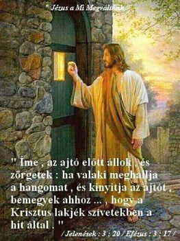 Jézus Az ajtó előtt ál
