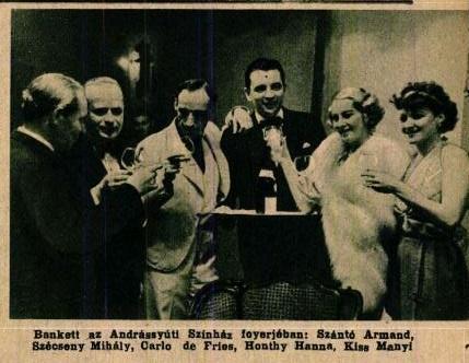 operettszerzők és színészek