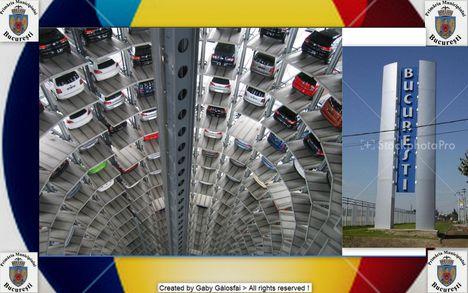 Bucureşti legújabb , 50 emeletes  tororony körparklolóháza . 5 szint a föld alatt  a többi a föld felett .