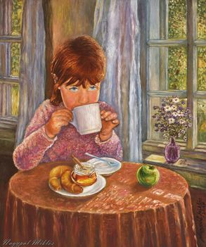 Dóra reggelizik