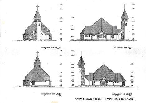 Kisbodaki Szent Balázs és Szent László templom tervei 1993 évből