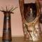 Pálinkás korsotartó odvas fatörzsből