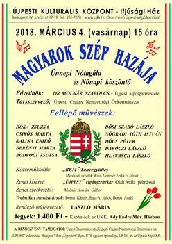 Ünnepi műsor várja a kedves vendégeket 2018. tavaszán is Újpesten. !