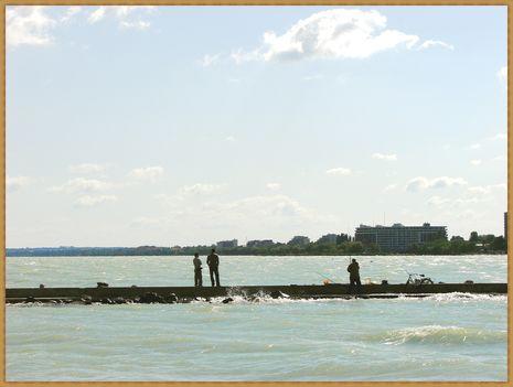 Balaton, siófoki horgászok. 3
